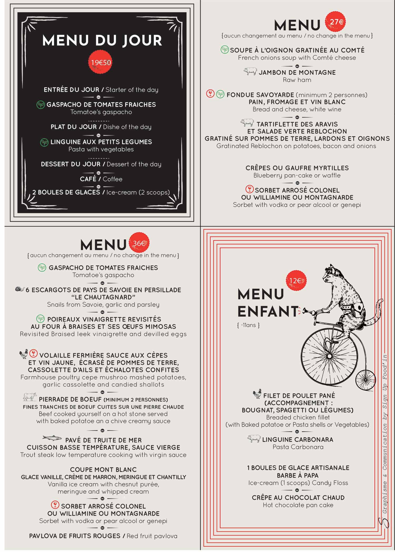 Menus restaurant le Monchu 3